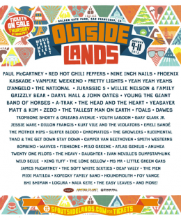Outside Lands is Coming