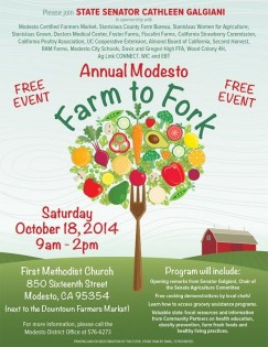1st Annual Farm to Fork at Modesto Farmers' Market
