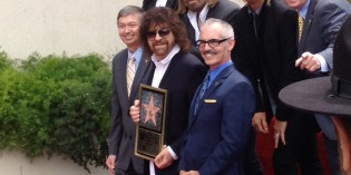 ELO Creator Jeff Lynne Honored at Walk of Fame