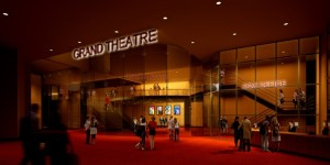 Grand Theatre main entrance rendering