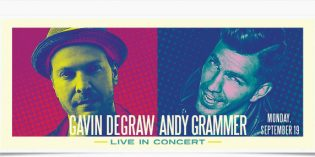Gavin DeGraw & Andy Grammer show added – Sept 19