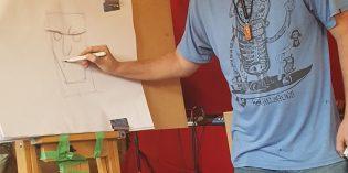 Art Class at Queen Bean with Patrick Barr Comic Artist